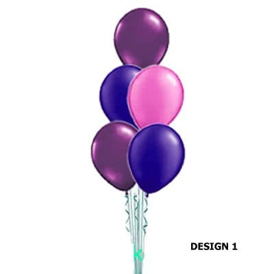 5 latex Balloons - Stack Table Decoration or Floor Standing (Inflated price)