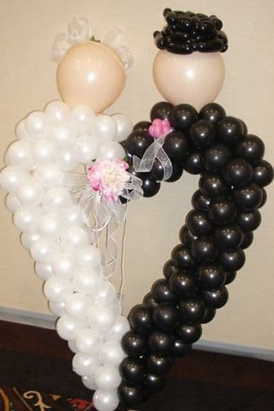 5ft Heart Bride & Groom - can be any colour or couple Groom & Groom Bride & Bride