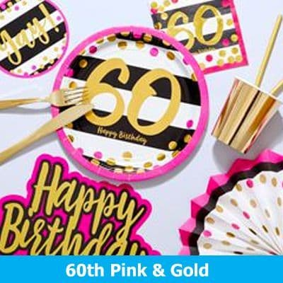 60th Pink & Gold