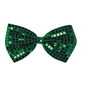 Accessories: Green Sequin Bow Tie - St Patrick's Day (each)