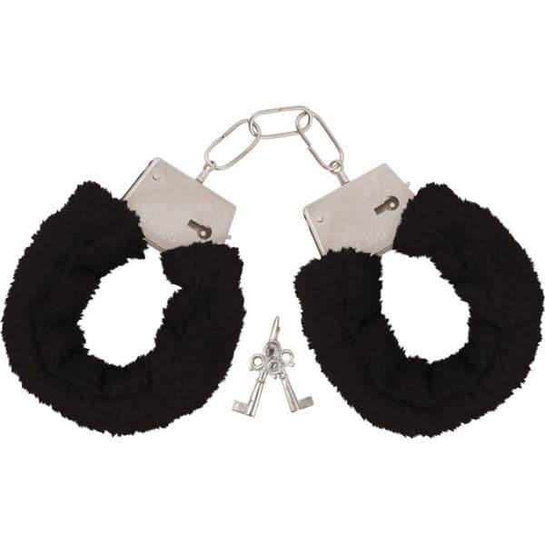 Accessory: Black Furry Handcuffs