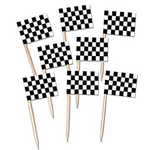Accessory: Disney Cars Racing Flag Picks x50pk