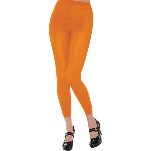 Accessory: Orange Footless Tights - Adult Size 10-14