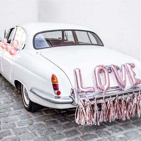 Accessory: Rose Gold Love Wedding Car Decoration Kit