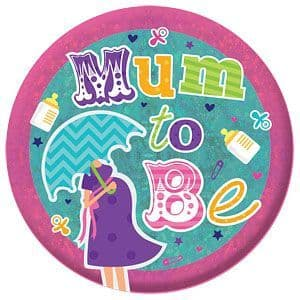 Badge: Mum To Be Holographic Badge - 15cm