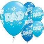 Balloon: 11'' Dad You're The Best Starburst Latex Balloons x25pk