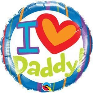 Balloon:  18'' I Heart Daddy Balloon (Inflated price £3.50)