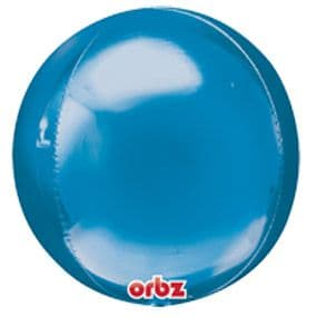 Balloon: 18'' Orbz™ Blue Foil balloon - Each - Sold Deflated