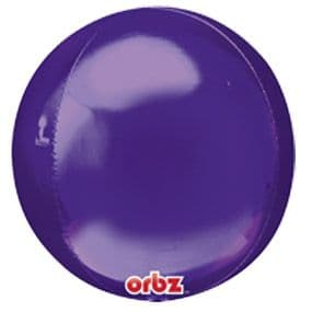 Balloon: 18'' Orbz™ Purple Foil balloon - Each sold deflated