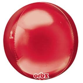 Balloon: 18'' Orbz™ Red Foil balloon - Each - Sold deflated
