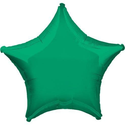 Balloon: 19 inch Green Star - Sold Deflated