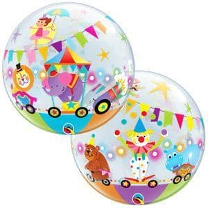 Balloon:  22'' Circus Bubble Balloon  - Sold deflated