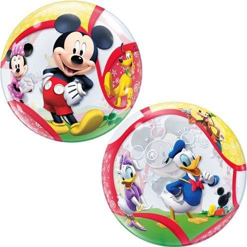 Balloon: 22'' Mickey & His Friends Bubble Balloon (each) Sold deflated