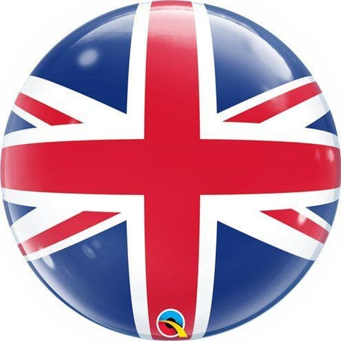 Balloon: 22'' Union Jack Bubble Balloon (each) Sold Deflated