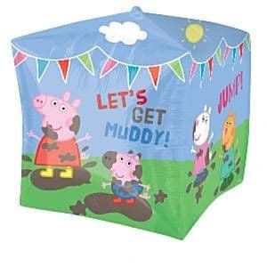 Balloon: 24'' Peppa Pig Cubez™ Foil Balloon each  Sold deflated