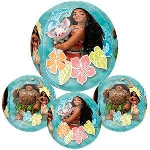 Balloon: 25'' Orbz™ Disney Moana Clear Orbz Foil Balloon - Sold deflated