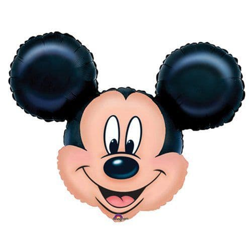 Balloon:  27'' Mickey Mouse Supershape Foil Balloons (each) sold deflated