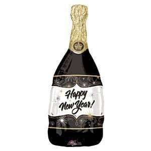 Balloon: 36'' Champagne New Year Foil Balloon (each) Sold deflated