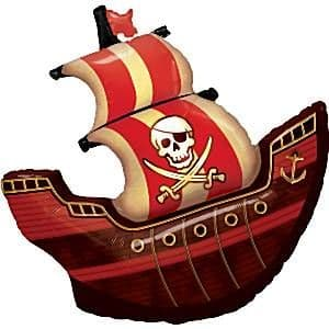 Balloon: 40'' Pirate Ship Supershape Foil Balloon (each) Sold deflated