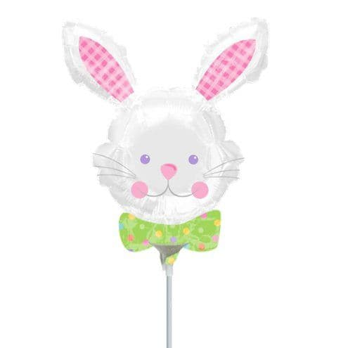 Balloon: 9'' Hop Hop Bunny Mini Balloon - Airfilled