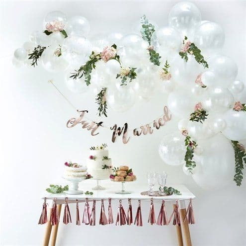 Balloon kit: White Balloon Arch - 70 Balloons - Kit
