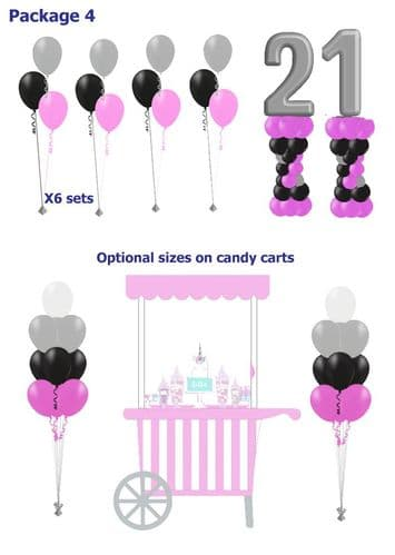 Balloon Package 4: Cart & balloons ideal for any occasion (Various sized carts available)