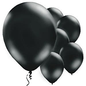 Balloons:  11'' Black Latex Balloons x10pk