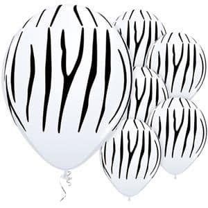 Balloons: 11'' Zebra Stripes Latex Balloons  (25pk)