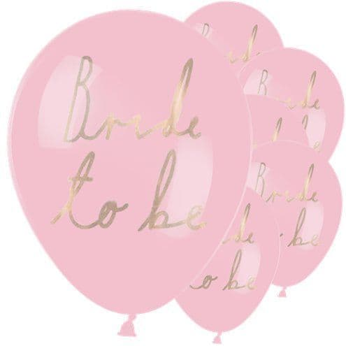 Balloons: 12' Bride To Be Balloons x6pk