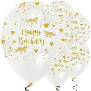 Balloons:  12'' Unicorn Sparkle Balloons Latex  x6pk