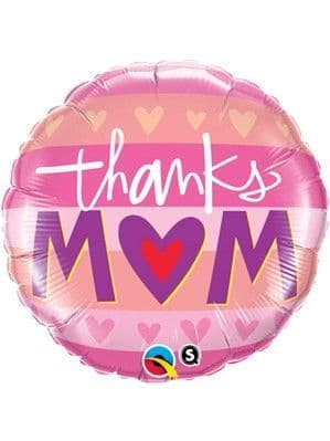 Balloons: 18'' Mother's Day Thanks Mum Foil Balloon (each) Sold Deflated