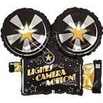 Balloons: 32'' Movie Camera Foil Balloon (each) Sold deflated