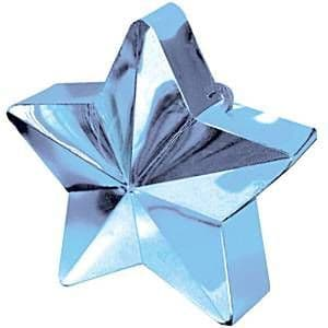 Balloons: Balloon Weights Light Blue Star 168g (each)