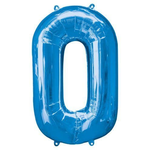 Balloons: Blue 34 Inch Numbers 0 to 9 - Sold Deflated