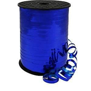 Balloons: Blue Holographic Curling Balloon Ribbon - 228m (each)