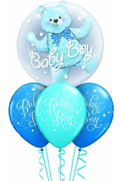 Balloons: Double Deco Bubble with internal balloon & weight