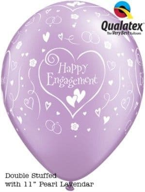 Balloons: Engagement Diamond Clear Latex Balloons (50pk)