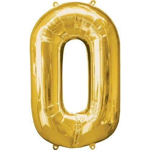 Balloons: Gold 34 Inch Numbers 0 to 9 - Sold deflated
