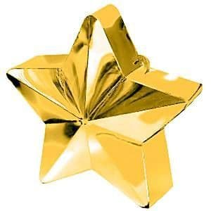 Balloons: Gold Star 168g Balloon Weights (each)