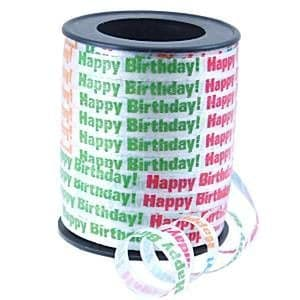 Balloons: Happy Birthday Curling Balloon Ribbon - 68.5m (each)