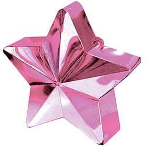 Balloons: Pink Star 168g Balloon Weights (each)