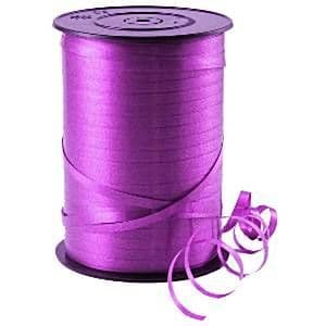 Balloons: Purple Curling Balloon Ribbon - 500m (each)