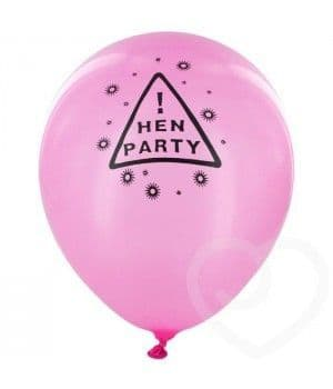 Balloons: Set of 12 Pink Hen Night Balloons
