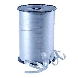 Balloons: Silver Curling Balloon Ribbon - 500m (each)