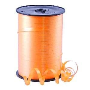 Balloons: Tangerine Curling Balloon Ribbon - 500m (each)