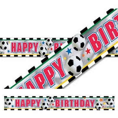 Banner: Championship Football Party Foil Banner - 12ft (each)