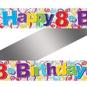 Banner: Colourful 8th Birthday Foil Banner