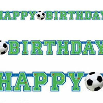 Banner: Football Party Letter Banner - 1.3m (each)