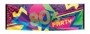 Banner: Giant 80's Party Polyester Banner 2.2M x 0.7M