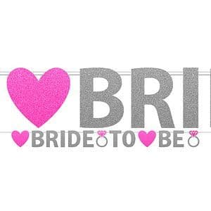 Banner: Hen Party Bride To Be Glitter Banner - 3.7m